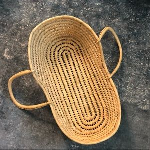 Moses baby basket woven